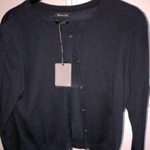 NWT Massimo Dutti Silk/Cotton blend dressy sweater